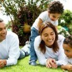 2. Happy Family in garden