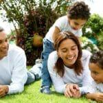 3. Happy Family in garden