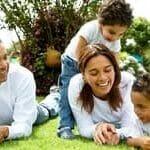 6. Happy Family in garden