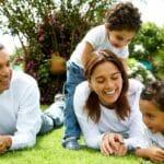 8. Happy Family in garden