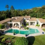 4. Villa with pool blue sky