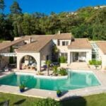 6. Villa with pool blue sky