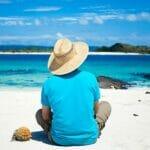 man on beach 500