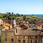 Siant-Emilion en wijngaarde – nabij Bordeaux